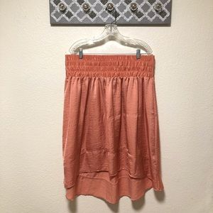 Lane Bryant Hi Low Skirt Coral, Size 18/20 NWT